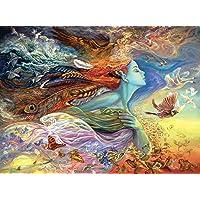 Buffalo Games Josephine Wall - Spirit of Flight - Glitter Edition Rompecabezas de 1000 Piezas