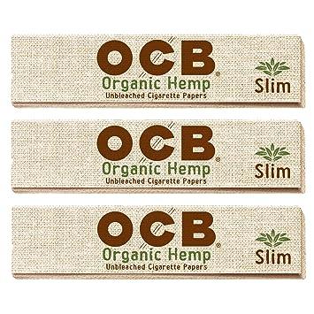 Amazon com: OCB Slim King Organic Rolling Papers - 3 Packs