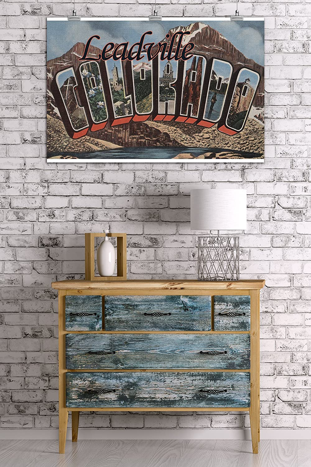 Large Letter Scenes Colorado Leadville 24x36 Giclee Gallery Print, Wall Decor Travel Poster