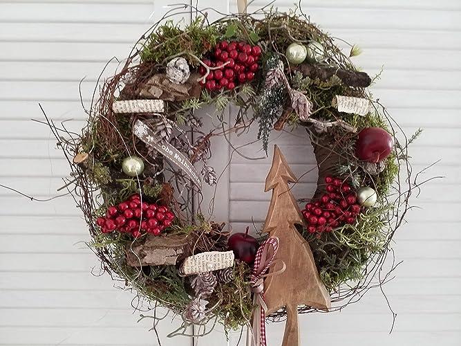 Türkranz Weihnachten türkranz weihnachten holztanne amazon de handmade
