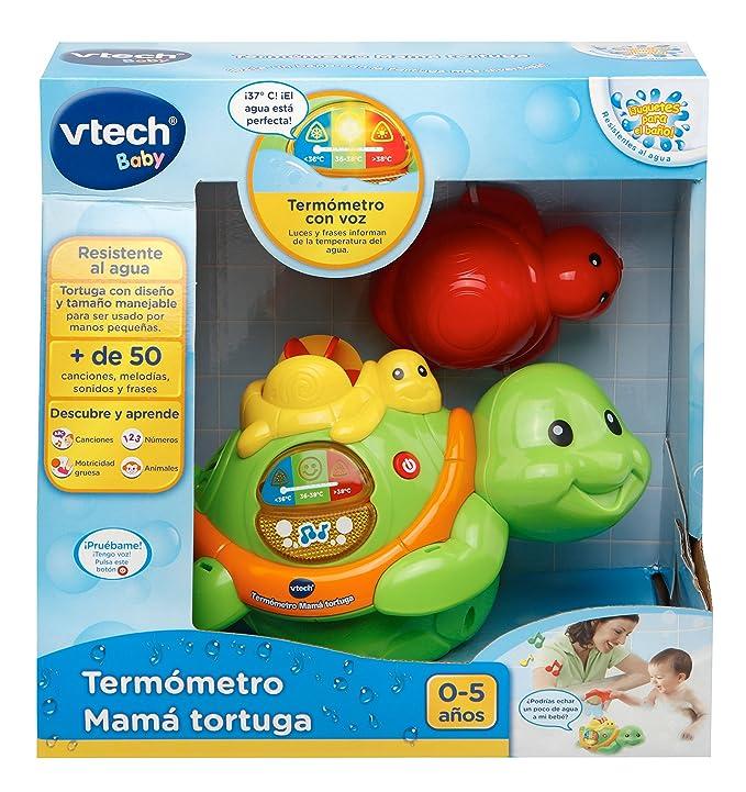VTech Termómetro para la bañera, Tortuga (3480-186722): Amazon.es: Juguetes y juegos