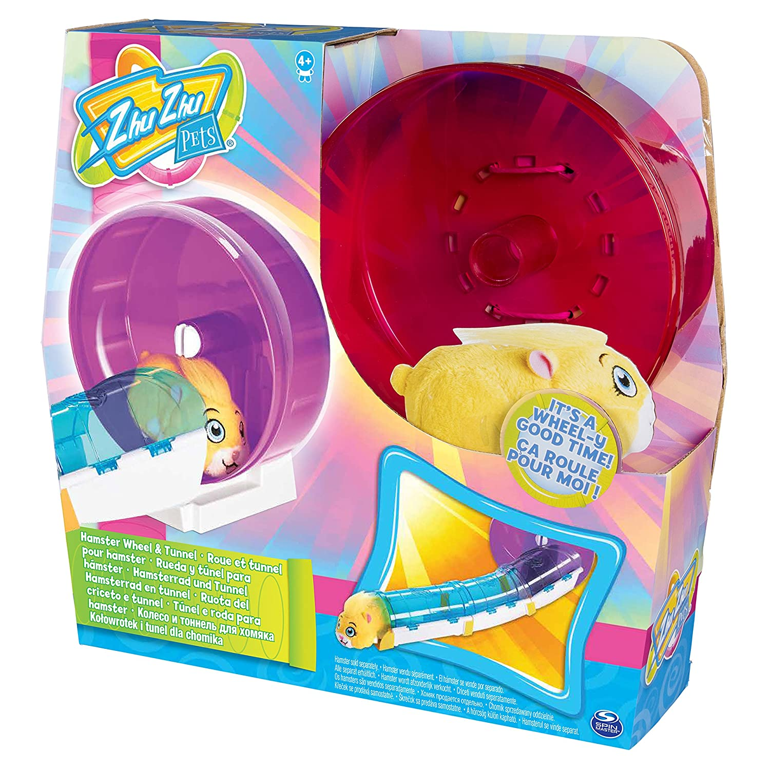 Splash Toys – 32302 – Peluche Zhu Zhu Pets Wheel e tunnel – Ruota e tunnel per Criceto splashtoys