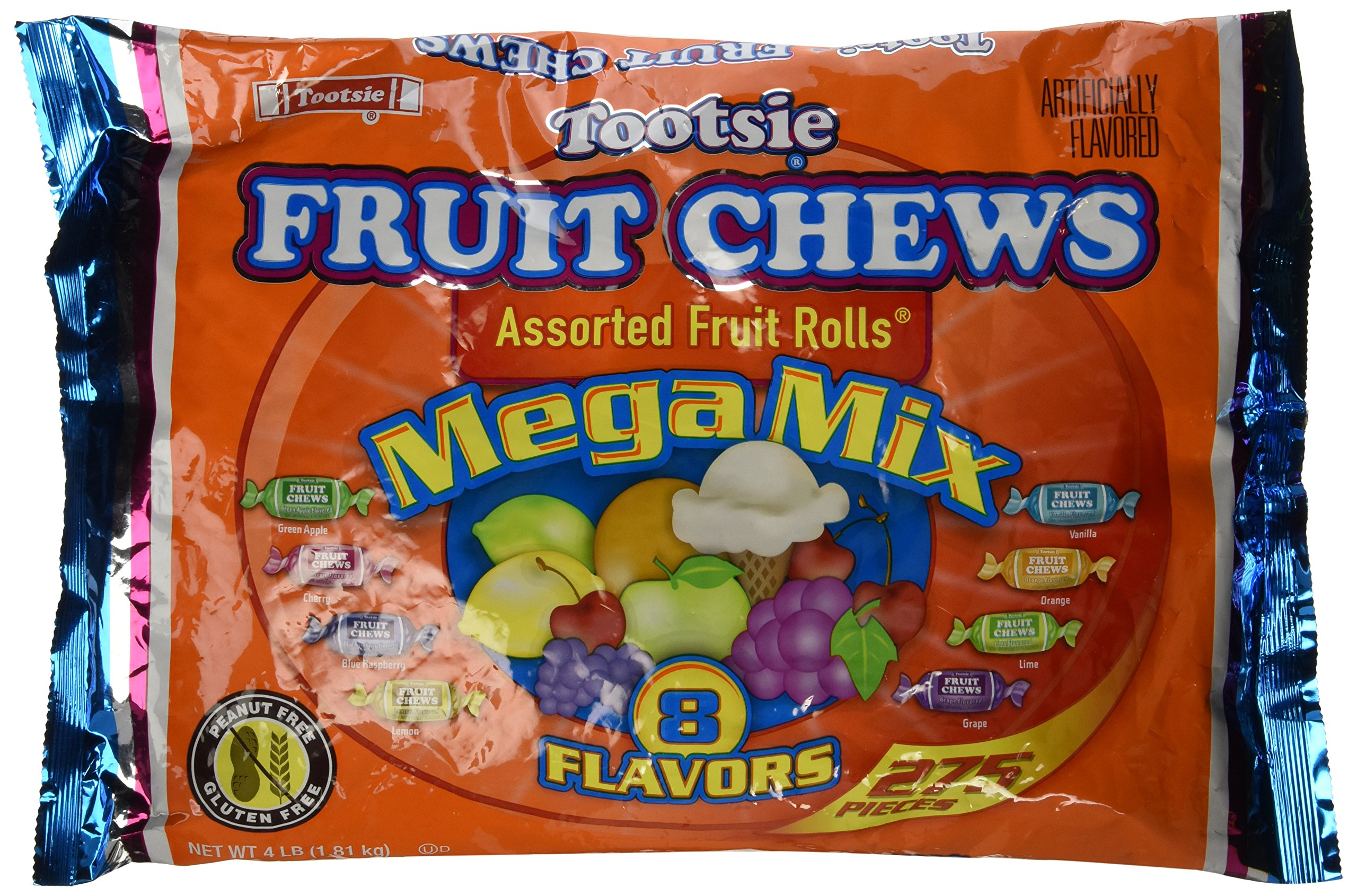 Tootsie Roll Frooties Fruit Rolls Mega Mix 8 Flavor Value Bag (Pack of 275) by Tootsie