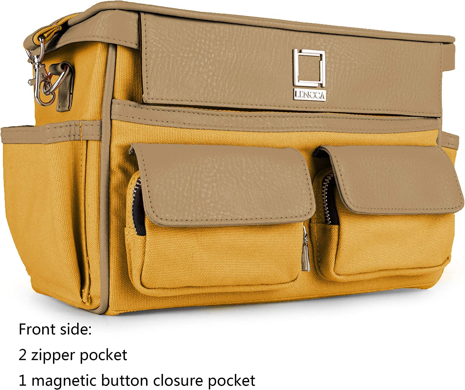 Panasonic Canvas Camera Shoulder Messenger Bag Padded Case for Samsung Sony Canon Green Pentax