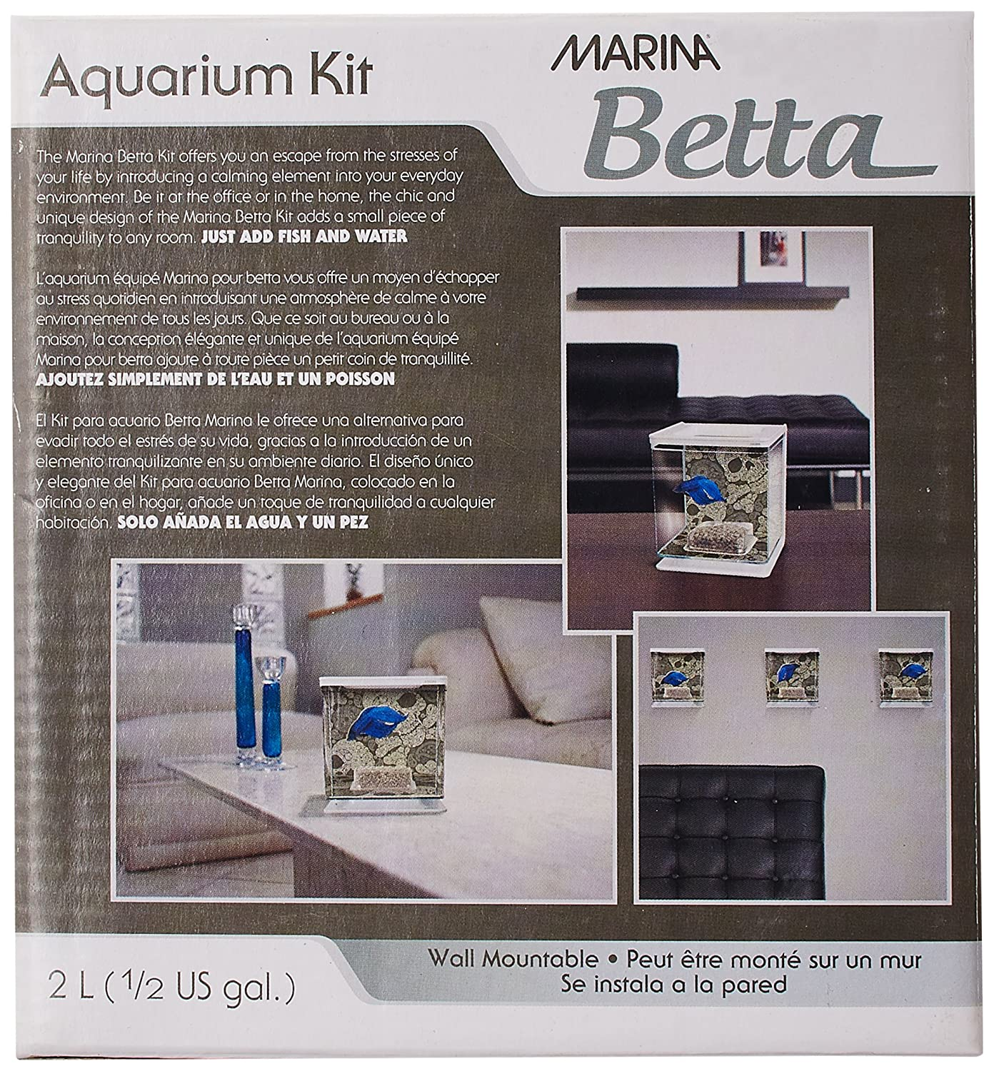 Amazon.com : Marina Betta Aquarium Starter Kit, Skull : Fish Tank Gravel : Pet Supplies