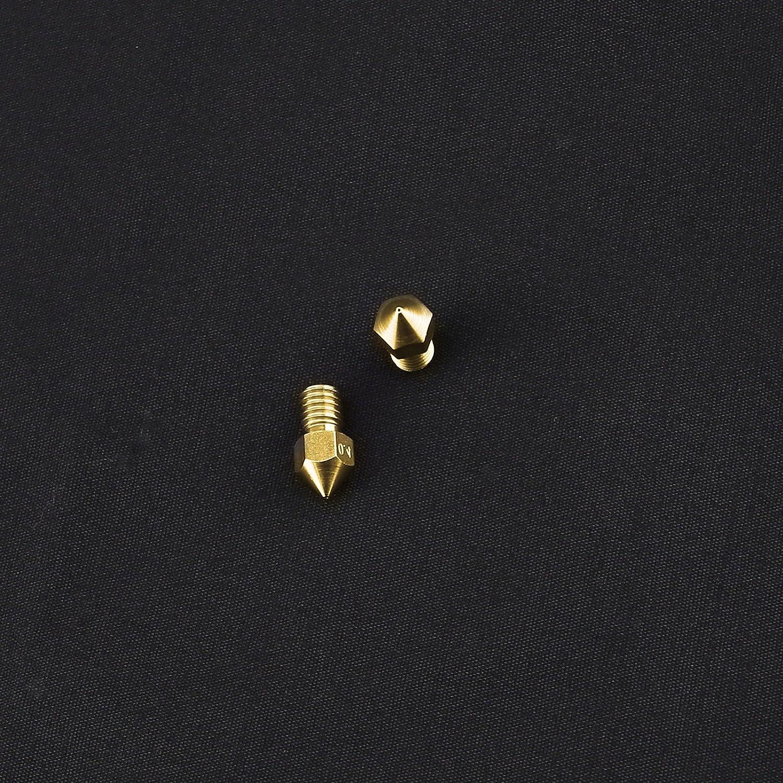 0.2//0.4mm 3D Printer Brass Nozzle MK8 Extruder Print Heads for Makerbot RepRap