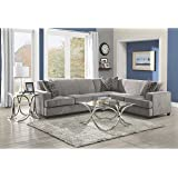 Coaster Home Furnishings 500727 Casual Sectional Sofa, Black/Grey
