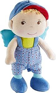 HABA 304104 Frido - Ángel de la Guarda de la Suerte para niños, muñeca de Tela Suave con alas, Regalo para Nacimiento o Bautizo
