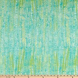 Kokka Kuiskaus Metassa In The Woods Salt Shrink Lawn Plisse Green Fabric by the Yard