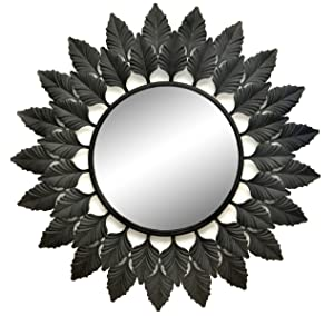 Logam Iron Leaf Decorative Wall Mirror