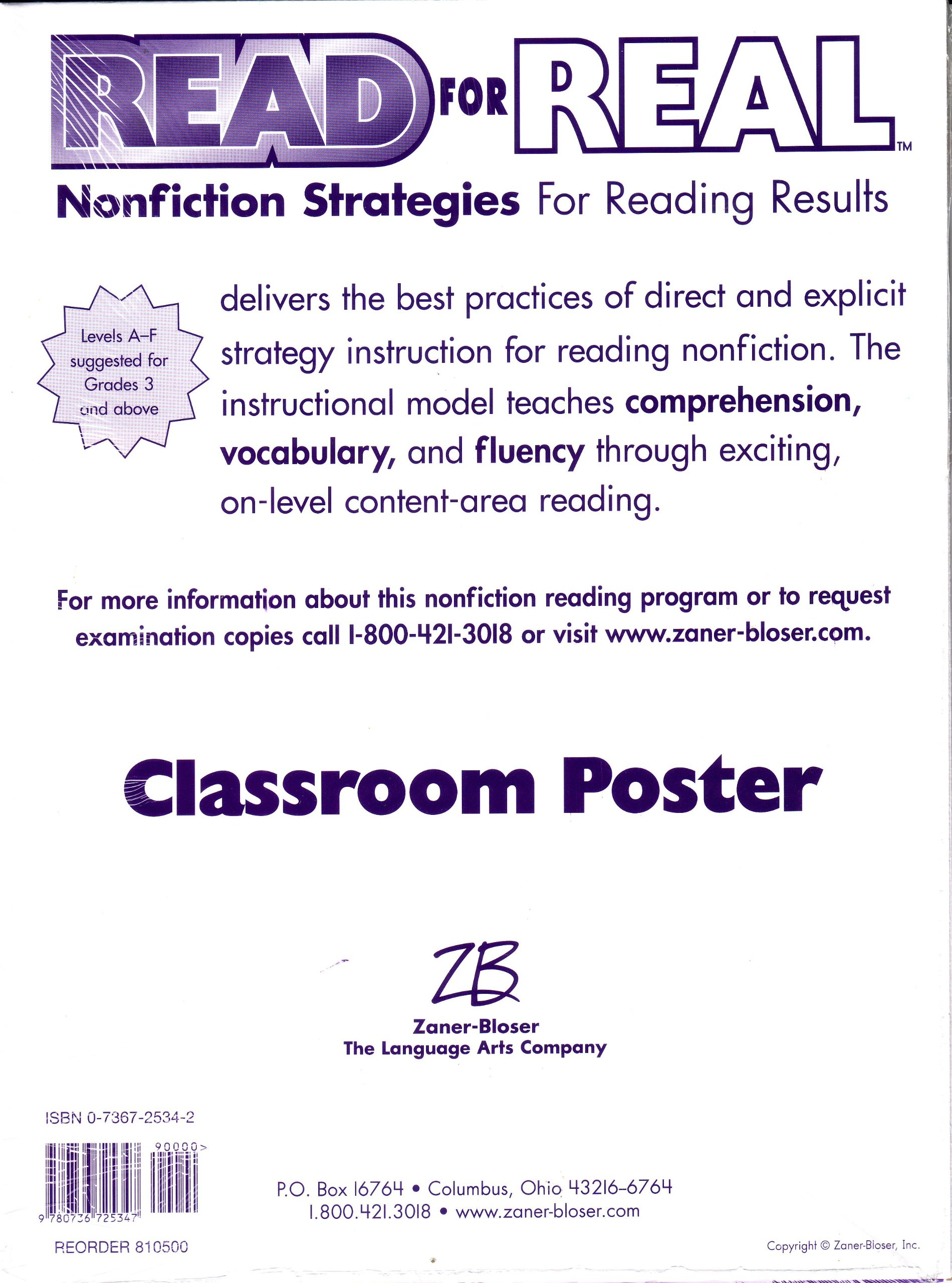 Read For Real Nonfiction Strategies For Reading Results Classroom