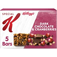 Kellogg's Special K Dark Chocolate and Cranberry Cereal Bars, Pack of 10