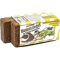 Humusziegel - 2 x 650g sustrato de Coco como Arena para terrarios, Hace 18 L