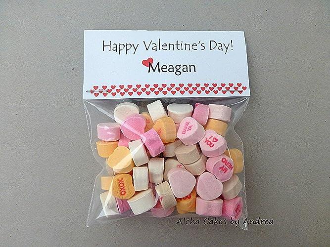 Amazon Com Happy Valentine S Day Treat Bag Topper Personalized