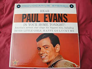 Hear Paul Evans 'In Your Home Tonight! Original 1961 Carlton Records Corp. Celebrity Series STLP 12/129 Rare Stereo Version Vinyl Lp Record in EX