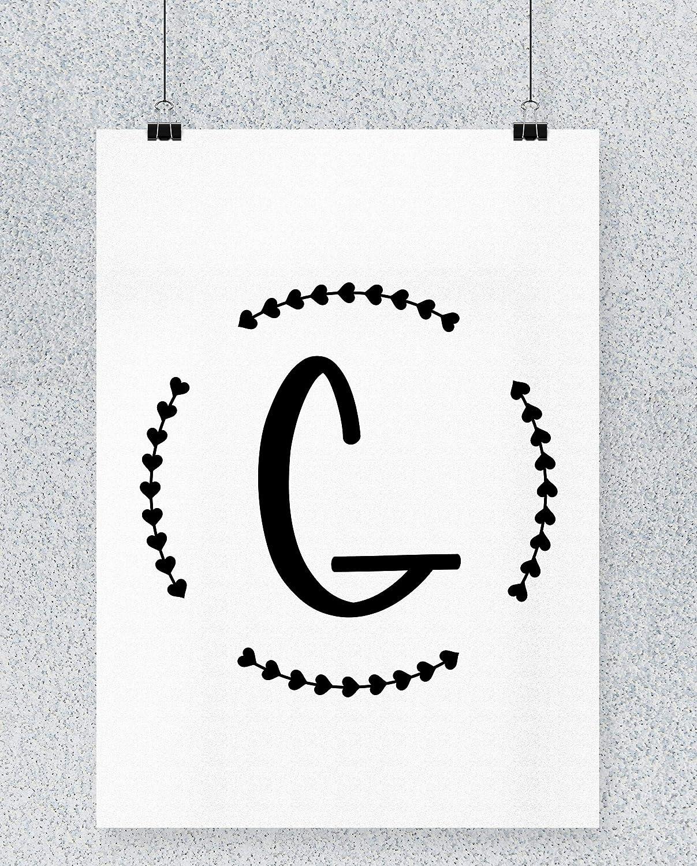 Compra Hippowarehouse G Initial Cartel Impreso Pared Arte ...