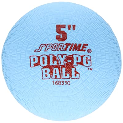 Sportime Poly Playground Ball - 5 inch - Blue: Industrial & Scientific