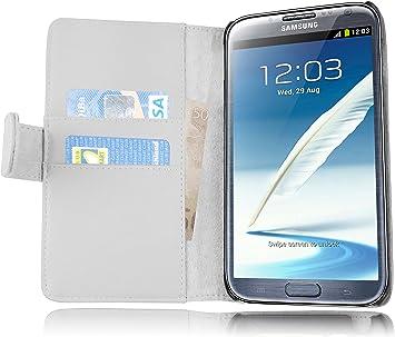 Cadorabo Samsung Galaxy Note 2 Funda de Cuero Sintético Liso en ...