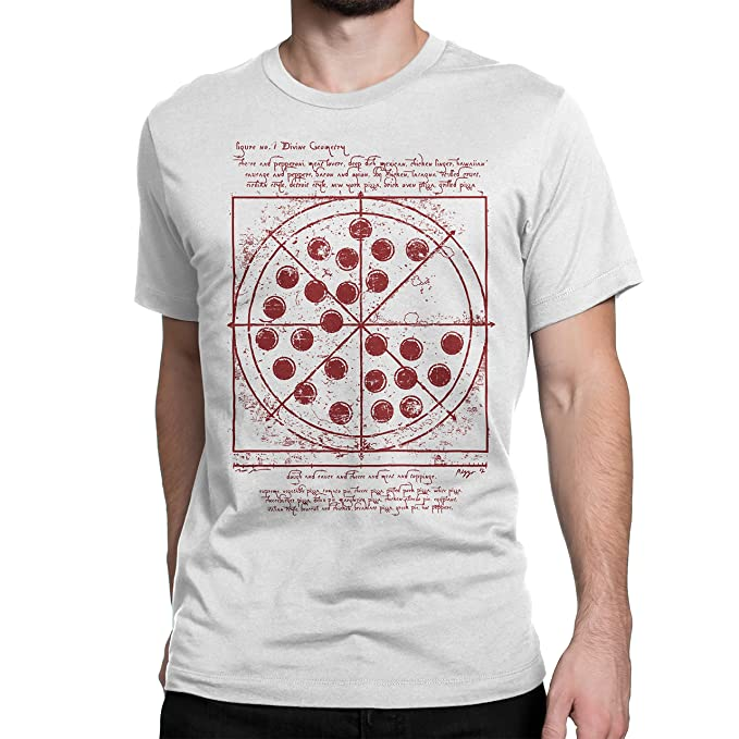 2780a8280 Cellblock 1138 Spiderman: Homecoming Inspired Vitruvian Pizza Tshirt White