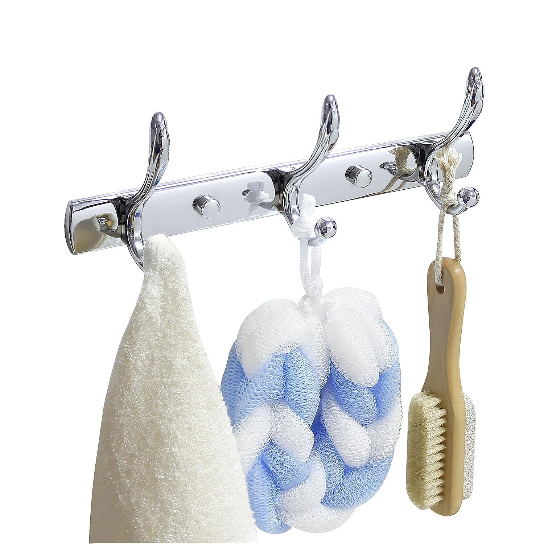 Rubbed Bronze MODONA Large Triple Towel /& Robe Hook