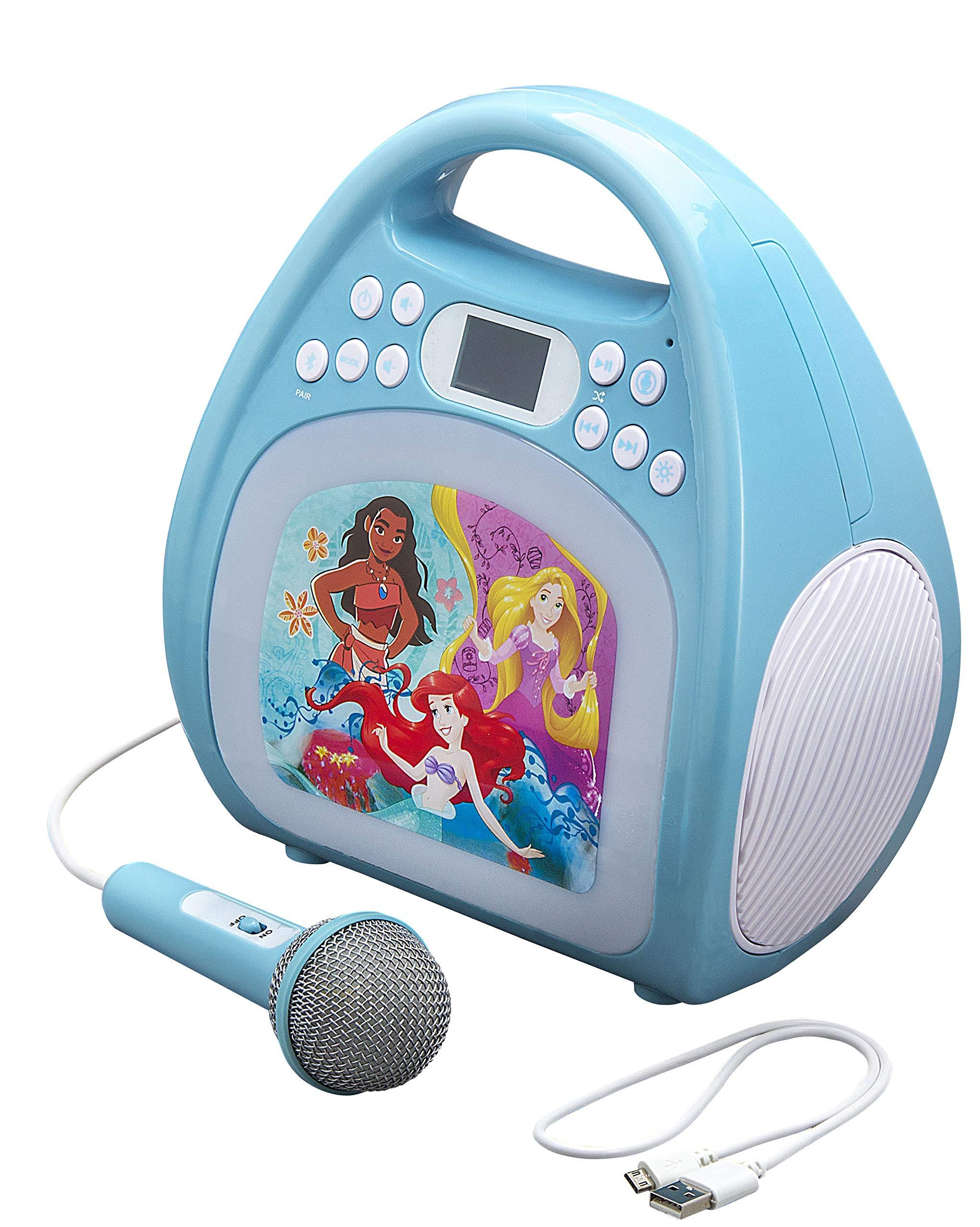 kiddesigns, inc. Disney Bluetooth MP3 Karaoke with Light Show - Disney Princesses by kiddesigns, inc. (Image #2)