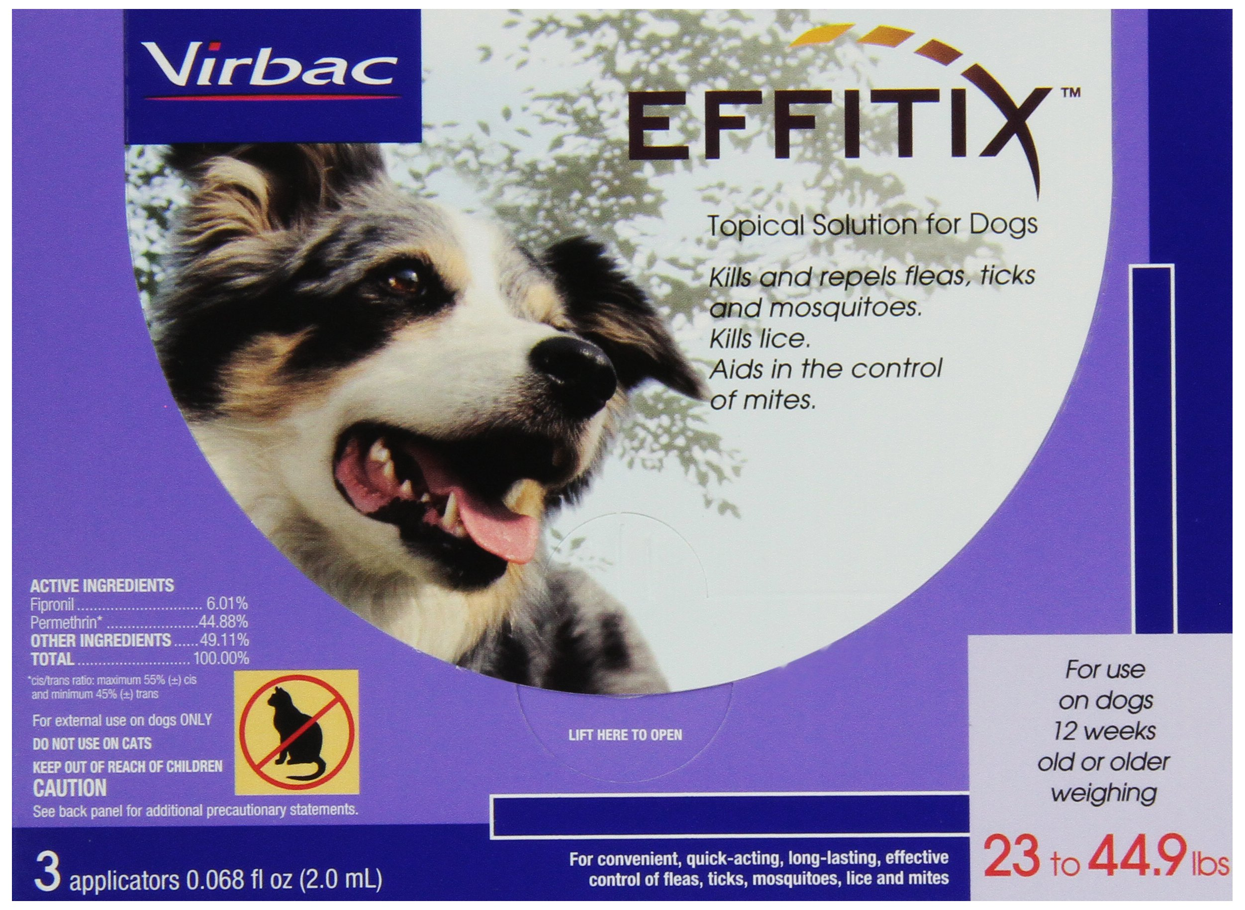 Virbac Effitix Flea/Tick Topical Solution, Medium Dog, 3 Count by Virbac (Image #1)