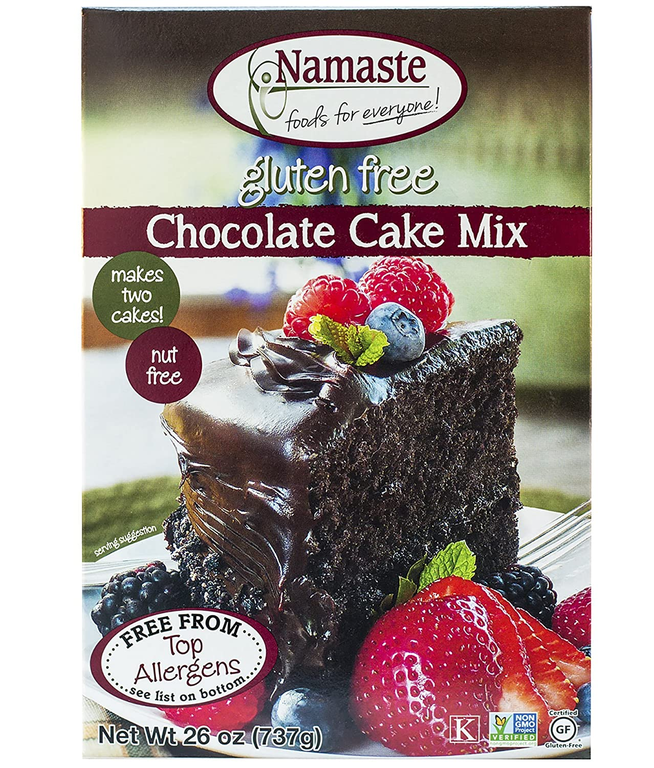 Amazon.com : Namaste Foods, Gluten Free Chocolate Cake Mix, 26 ...