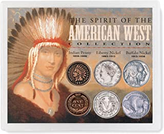 product image for Spirit of The American West Coin Collection| Genuine United 6 Piece Coin Set Buffalo Nickels, Liberty Nickels, Indian Head Cents | Certificate of Authenticity – American Coin Treasures
