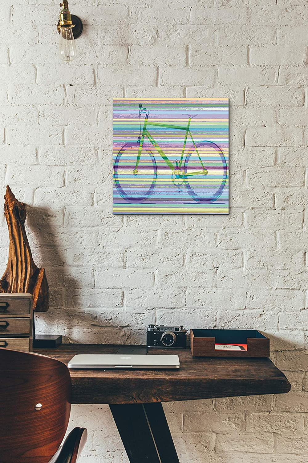Epic GraffitiStriped Bicycle by Monfils Giclee Canvas Wall Art 26x26
