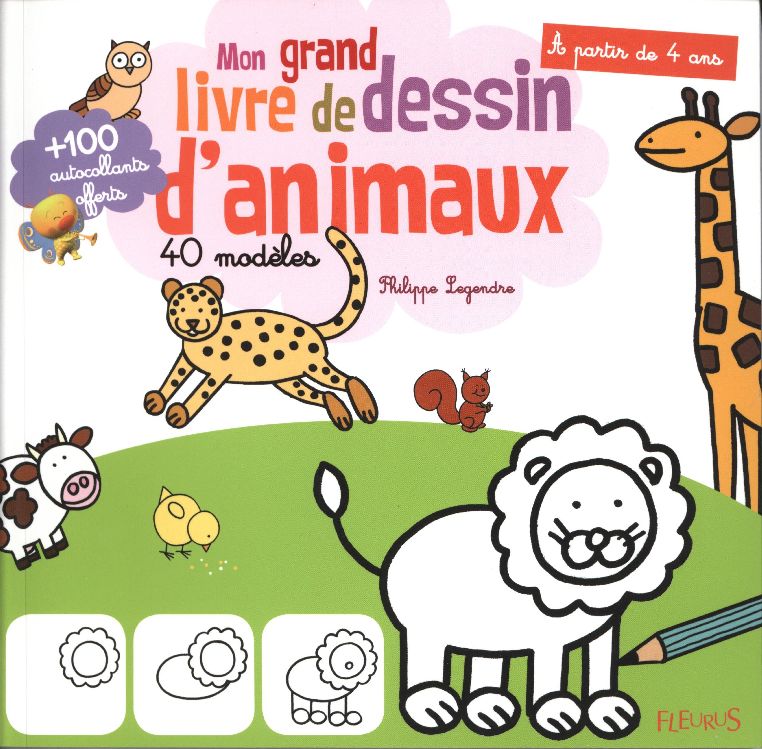 Mon Grand Livre De Dessin D Animaux 40 Modèles Amazon Fr