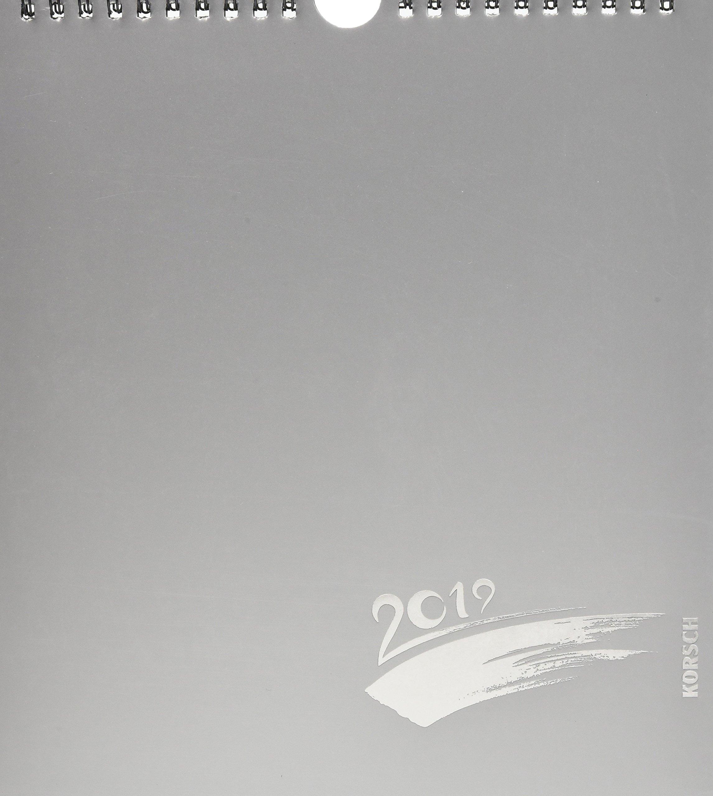 Foto-Malen-Basteln Bastelkalender silber 2019: Fotokalender zum Selbstgestalten. Do-it-yourself Kalender mit festem Fotokarton. Edle Folienprägung. Format: 21,5 x 24 cm Kalender – Wandkalender, 1. April 2018 Korsch Verlag 3731833557 Basteln / Handarbeiten