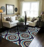 Modern Area Rugs Navy Rugs for Living Room 5x7 Clearance Navy Rugs for Bedroom