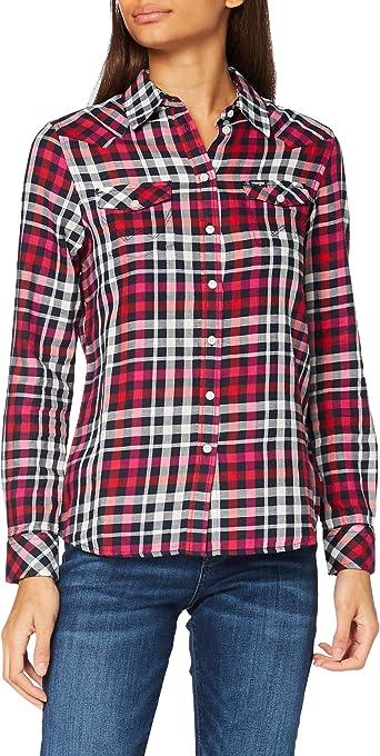 Wrangler Slim Regular Western Camisa para Mujer