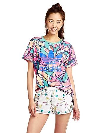 Adidas  mujer 's Bananas novio Trefoil T - shirt, multi - coloured, 42