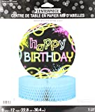 "Creative Converting 318138 Glow Party Birthday Center Piece - 12"", One Size, Multicolor"