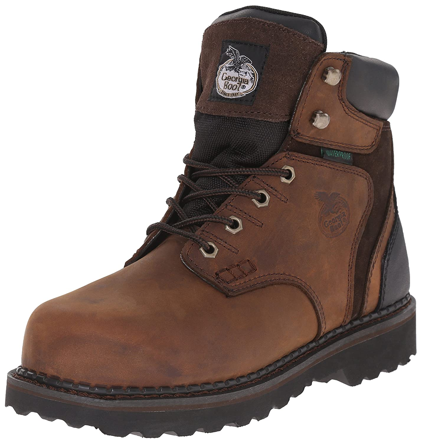Georgia Boot Men's Brookville 6 Inch Steel Toe Work Shoe