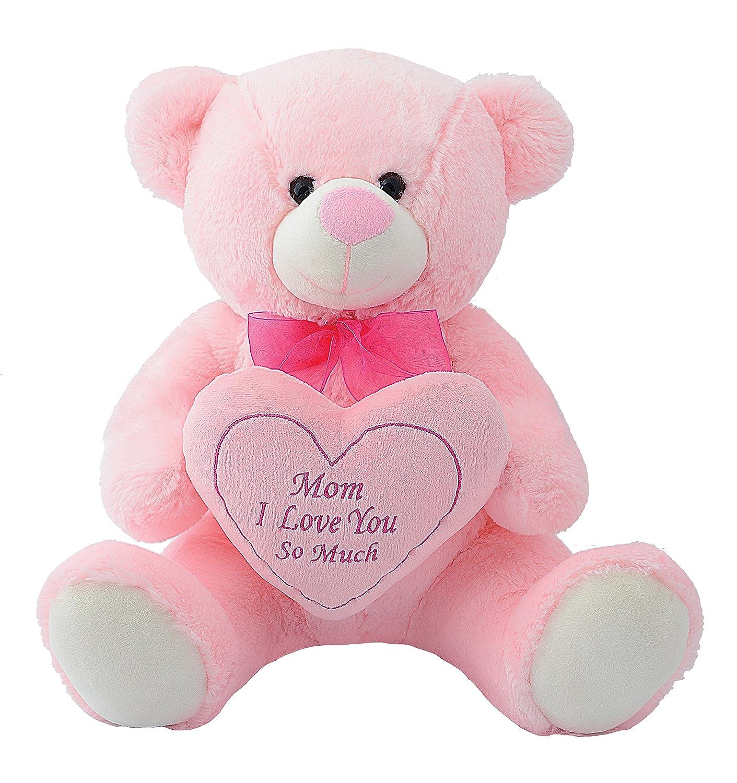 Buy dimpy stuff mom i love u so much bear with heart pink 36 cm buy dimpy stuff mom i love u so much bear with heart pink 36 cm online at low prices in india amazon altavistaventures Images