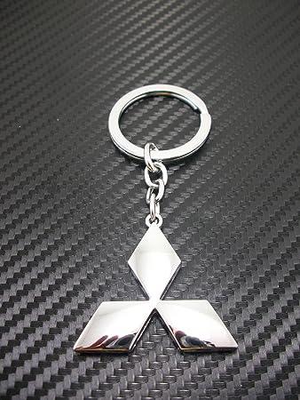 Mitsubishi Chrome Metal Keychain Key Ring Car