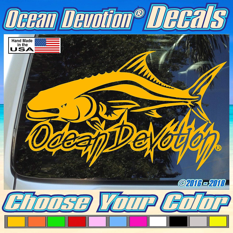 "Surf Fishing Keywords.. Truck Reel Life Surfing Beach Life Window Boat Cobia Fishing /""Ocean Devotion/®/"" Vinyl Decal//Sticker 8w x 4h inches Car Salt Life Automobile Sea Life"