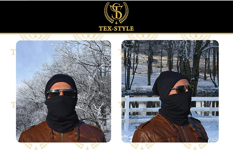 2025fd18800 Neck Warmer Gaiter 2 Pack Premium Black Fleece Winter Face Mask Balaclava  Nose Warmer Tube Scarf Cap Beanie Headband Thermal No-Pilling  Multifunctional ...