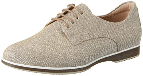 Sioux Darina, Zapatos de Cordones Derby para Mujer, Dorado (Gold-Silver 009), 38 2/3 EU: Amazon.es: Zapatos y complementos