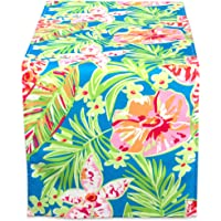 DII 100% Polyester, Spill Proof and Waterproof, Machine Washable, Outdoor Tablecloth with Zipper and Umbrella Hole