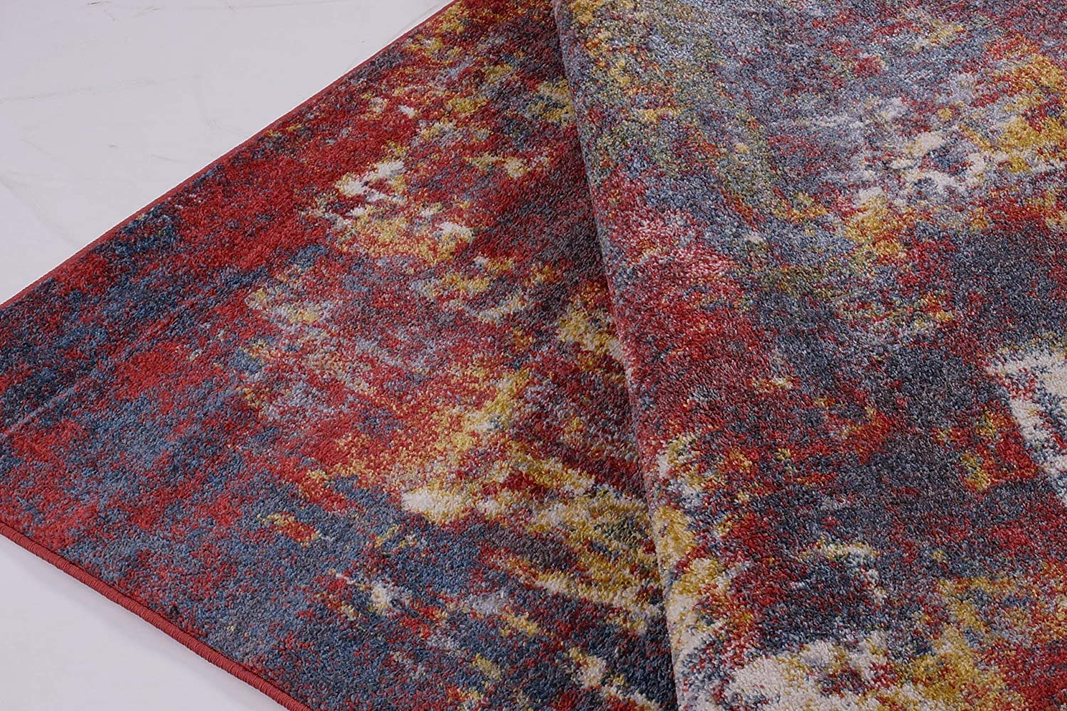 LaDole Rugs Terra Rustic Runner Rug Carpet for Hallways Entry Entrance Bedroom Kitchen 3x5 Approx 27x411 Feet