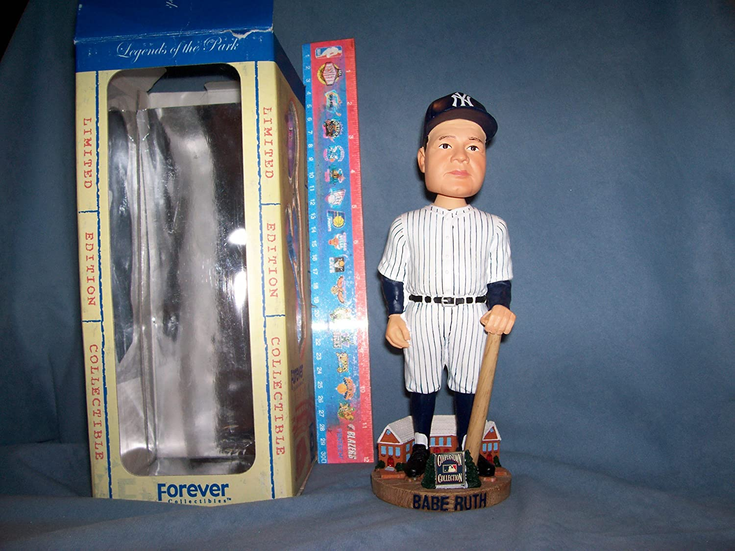 2003 FOREVER BABE RUTH BOBBLEHEAD N.Y. YANKEES HOME UNIFORM MINT#'d 5714 Forever Collectibles