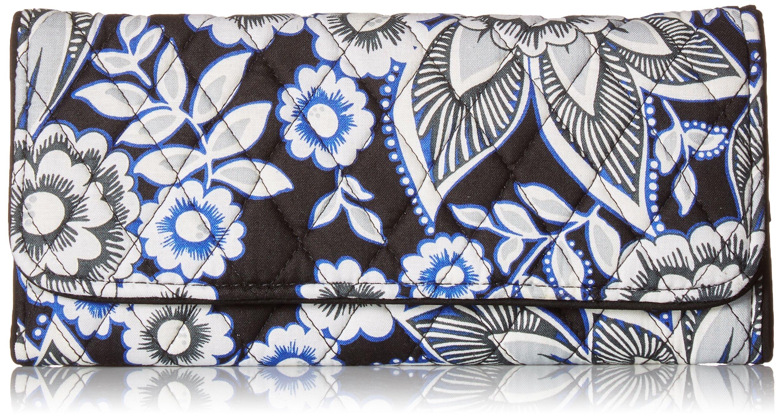 Vera Bradley Women's RFID Trifold Wallet, snow lotus, One Size by Vera Bradley