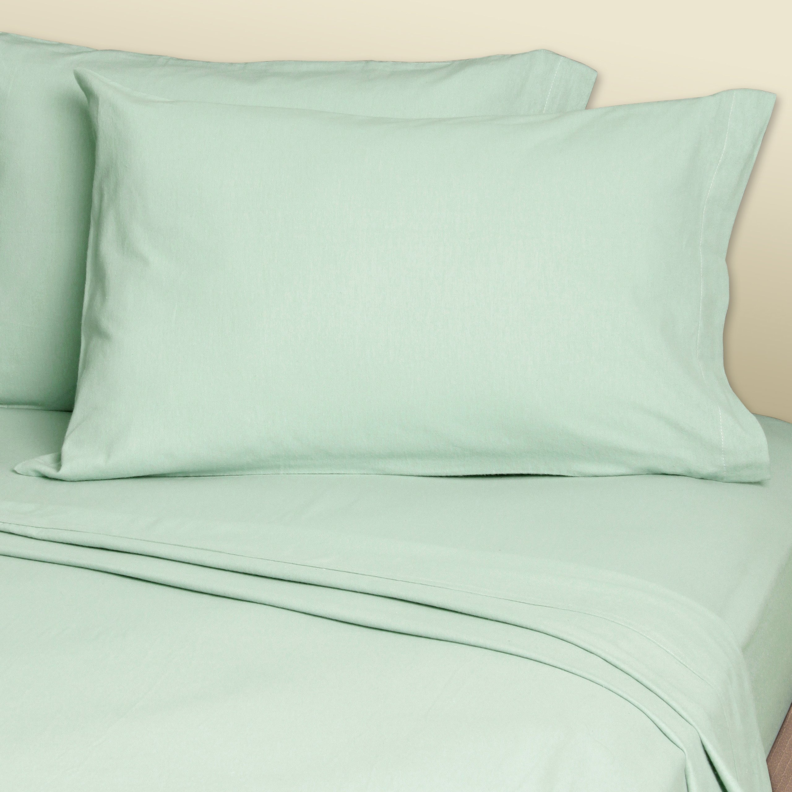 InnoMax Convert-A-Fit Percale Fitted Sheets, Solid, King, Seafoam