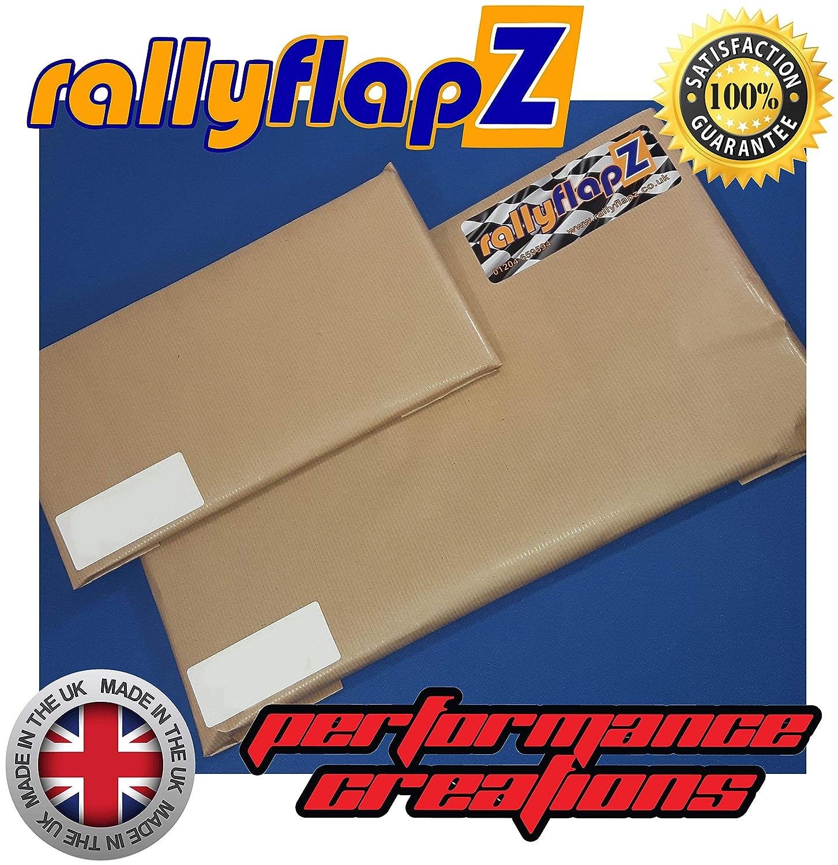 PVC RFFST225-BLK-3.2-RF-W RF-Logo 3,2 mm Wei/ß rallyflapZ Schmutzf/änger-Set f/ür vorne und hinten