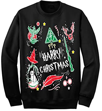 1299 prime tees adult harry christmas potter ugly christmas sweater small black - Harry Potter Ugly Christmas Sweater