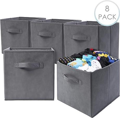 8 Cajas de Cubos de Almacenamiento Plegables| Calidad Premium ...