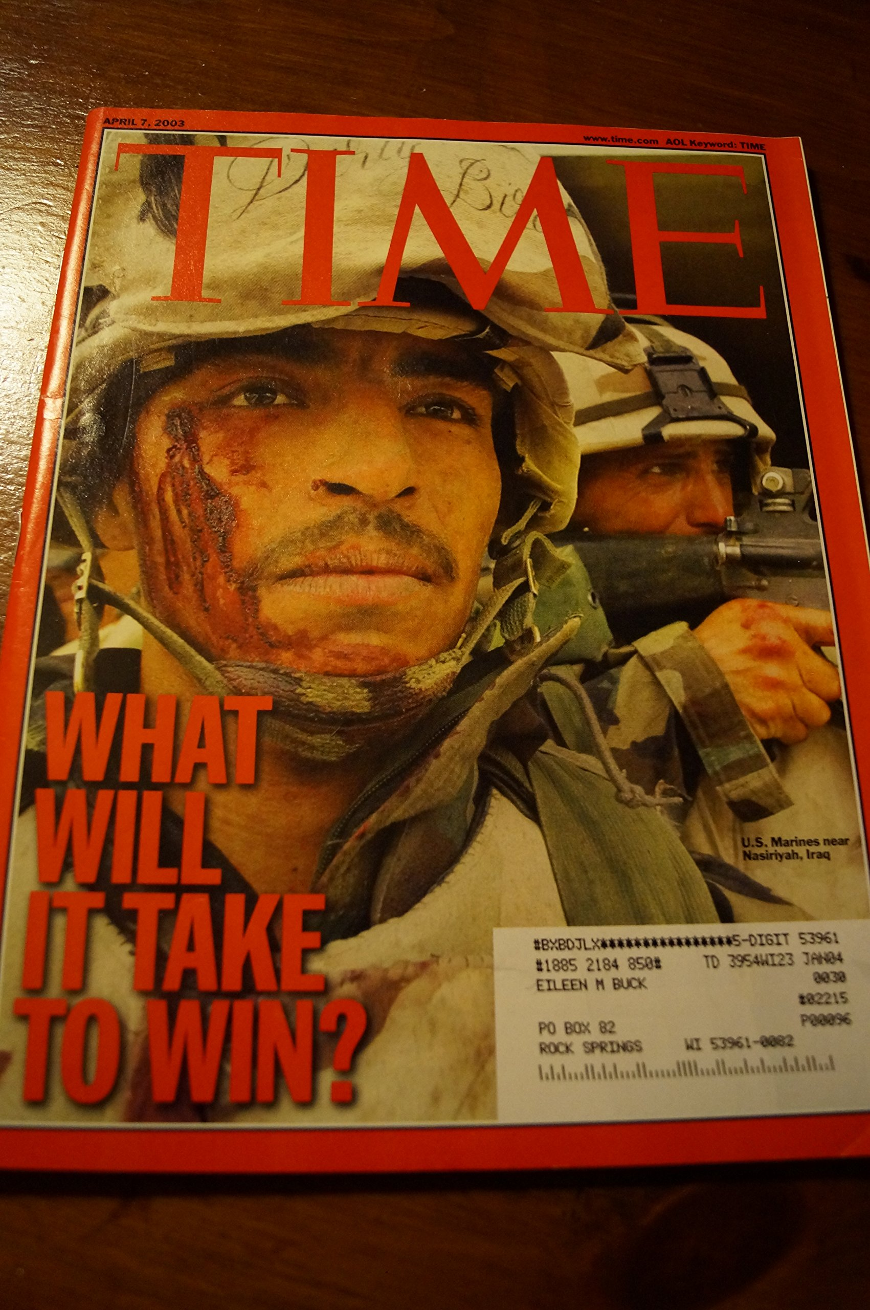 Read Online Time Magazine April 7 2003 What Will it Take to Win? ebook